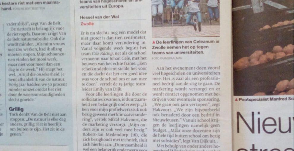 Publicatie in De Stentor